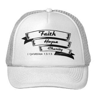 Faith hope and charity Christian design Trucker Hat