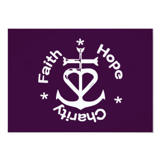 Faith Hope and Charity Greeting Cards/Invitations Card