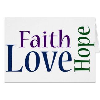 Faith, Hope and Love: 1 Corinthians 13:13 Card