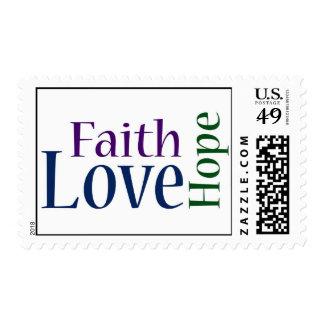Faith, Hope and Love - 1 Corinthians 13:13 Postage