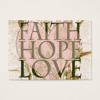 Faith, Hope and Love Business Card