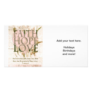 Faith, Hope and Love Card