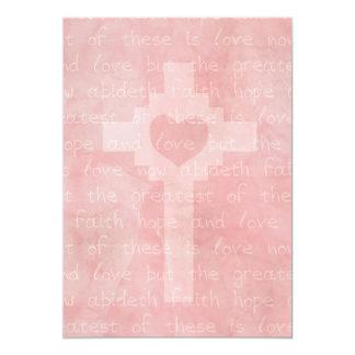 Faith Hope and Love Christian 5 x 7 Wedding Card