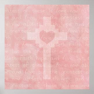 Faith Hope and Love Christian Poster