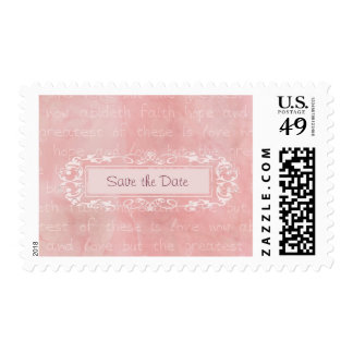 Faith Hope and Love Christian Save the Date Postage
