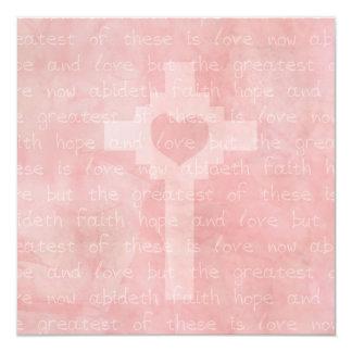 Faith Hope and Love Christian Square Wedding Card