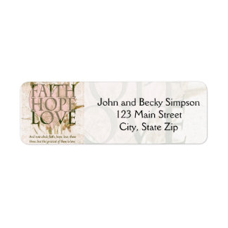 Faith, Hope and Love Custom Return Address Label