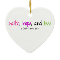 Faith Hope and Love Ornament