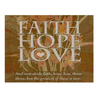 Faith Hope and Love Postcard