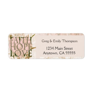 Faith, Hope and Love Return Address Label
