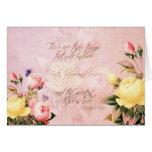 Faith Hope and Love Roses Greeting Card