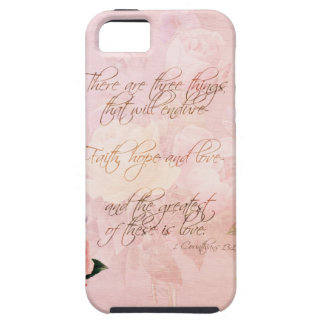 Faith Hope and Love Roses iPhone SE/5/5s Case