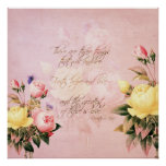 Faith Hope and Love Roses Posters