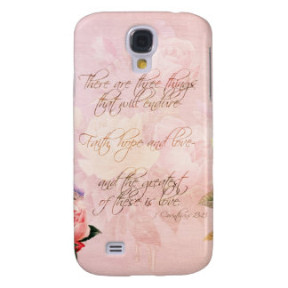 Faith Hope and Love Roses Samsung Galaxy S4 Cover