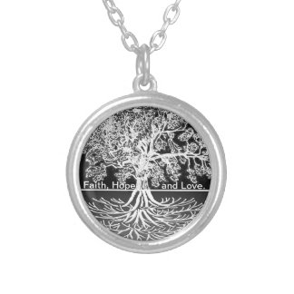 Faith, Hope and Love Silver Plated Necklace