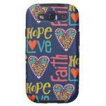 Faith Hope and Love Word Art Galaxy S3 Case