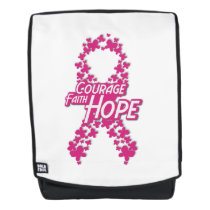 Faith Hope Breast Cancer Awareness Backpack