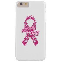 Faith Hope Breast Cancer Awareness Barely There iPhone 6 Plus Case