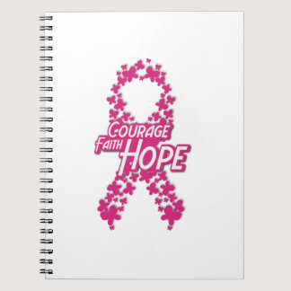 Faith Hope Breast Cancer Awareness Notebook