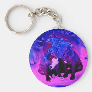 Faith Hope & Charity, Abused Pit Bull Dogs Keychain
