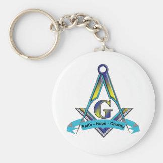 Faith, Hope, Charity Basic Round Button Keychain