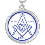 FAITH HOPE CHARITY BLUE NECKLACE