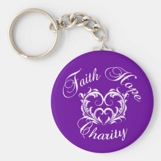 Faith Hope Charity Keychain