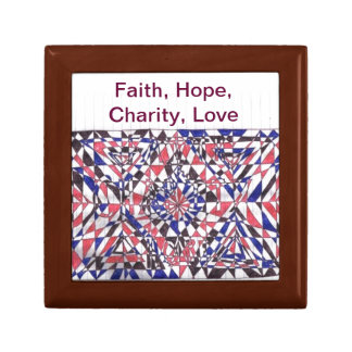 Faith, Hope Charity, Love Doodle Art Products Gift Box