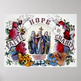 Faith Hope Charity Poster