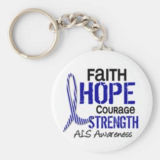 FAITH HOPE COURAGE ALS KEYCHAIN