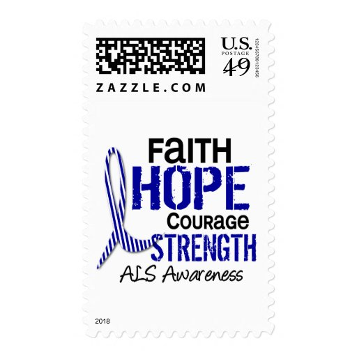 FAITH HOPE COURAGE ALS POSTAGE STAMP