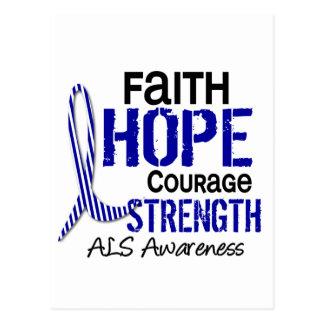 FAITH HOPE COURAGE ALS POSTCARD