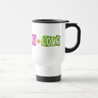 Faith Hope Love 15 Oz Stainless Steel Travel Mug