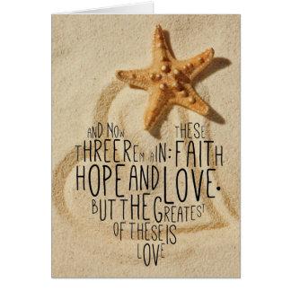 Faith Hope Love 1 Corinthians 13:13 Card
