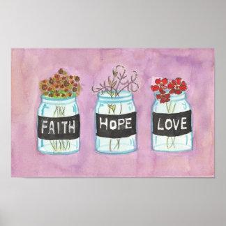 Faith Hope Love 1 Print