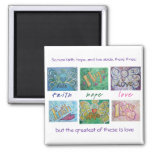 Faith Hope Love Angel Word Collage Magnet