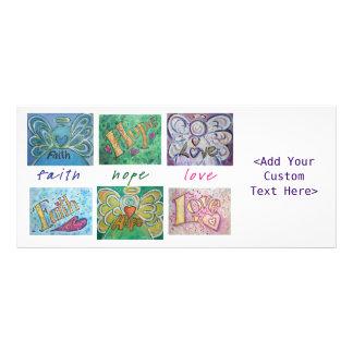 Faith Hope Love Angel Word Collage Rack Cards