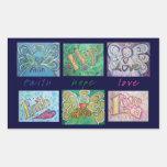 Faith Hope Love Angel Word Collage Sticker