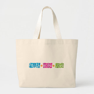 Faith Hope Love Tote Bags