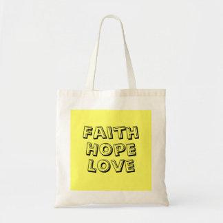 faith,hope,love canvas bag