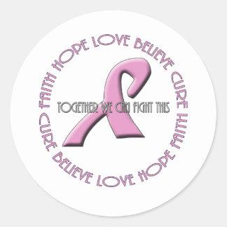 Faith Hope Love Believe Cure Classic Round Sticker