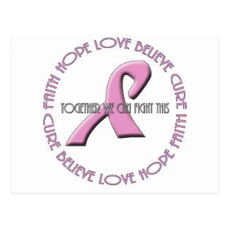 Faith Hope Love Believe Cure Postcard