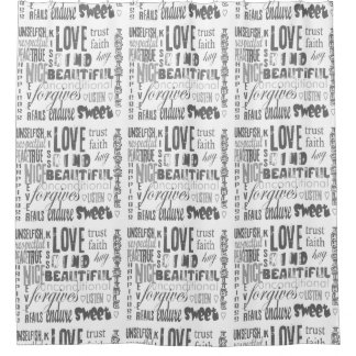 Faith Hope Love Bible Quote Christian Spiritual Shower Curtain