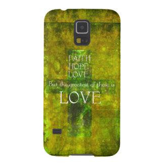 Faith Hope Love Bible Verse Case For Galaxy S5