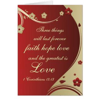 Faith Hope Love Bible Verse Customized Card