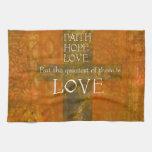Faith Hope Love Bible Verse Kitchen Towel