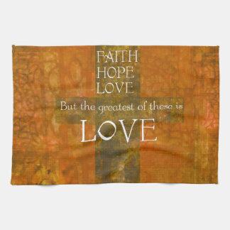 Faith Hope Love Bible Verse Hand Towels