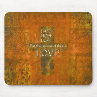 Faith Hope Love Bible Verse Mouse Pad