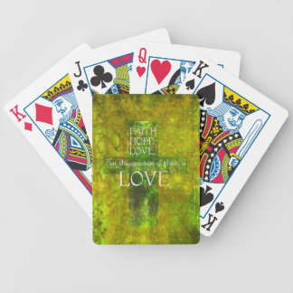 Faith Hope Love Bible Verse Bicycle Card Decks