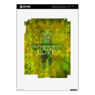 Faith Hope Love Bible Verse iPad 3 Skins
